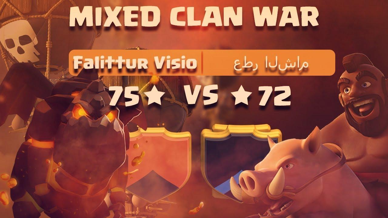 mixed clan war fallitur visio vs عطر الشام th11 9 attacks