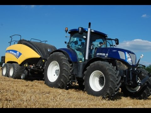 New Holland BIGBALER 1290 + T7.270 Blue Power in Action!
