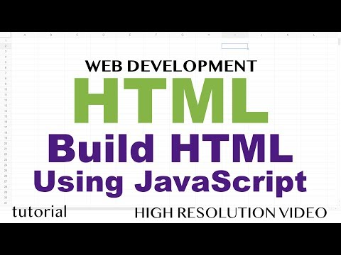 JavaScript - Create HTML - Adding To & Removing Elements From DOM - HTML5 & JavaScript - Part 7