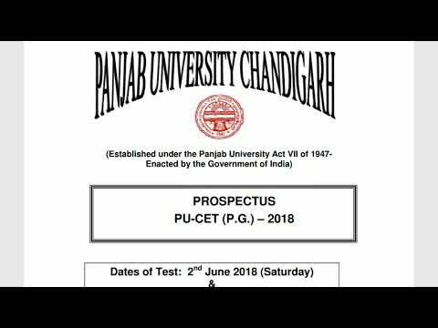 PANJAB UNIVERSITY (COURSES OFFERED) ADMISSION 2018 Mp3