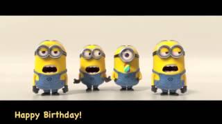 Minions Cantan Happy Birthday