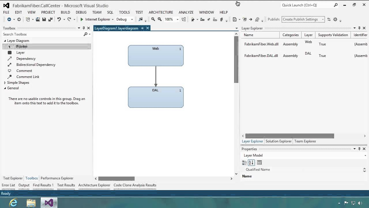 Visual studio enterprise architectural layer diagrams electrical layer diagrams and dependency validation youtube rh youtube com visual studio 2012 component diagram diagram visual ccuart Choice Image
