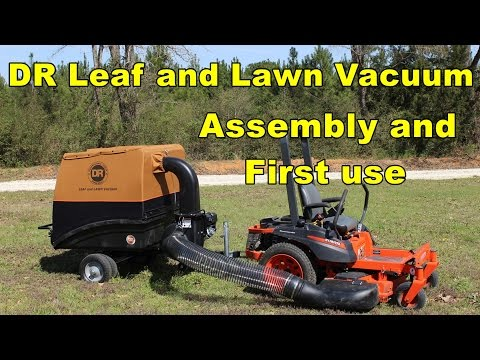 DR Leaf and Lawn Vacuum - Assembly and first use.