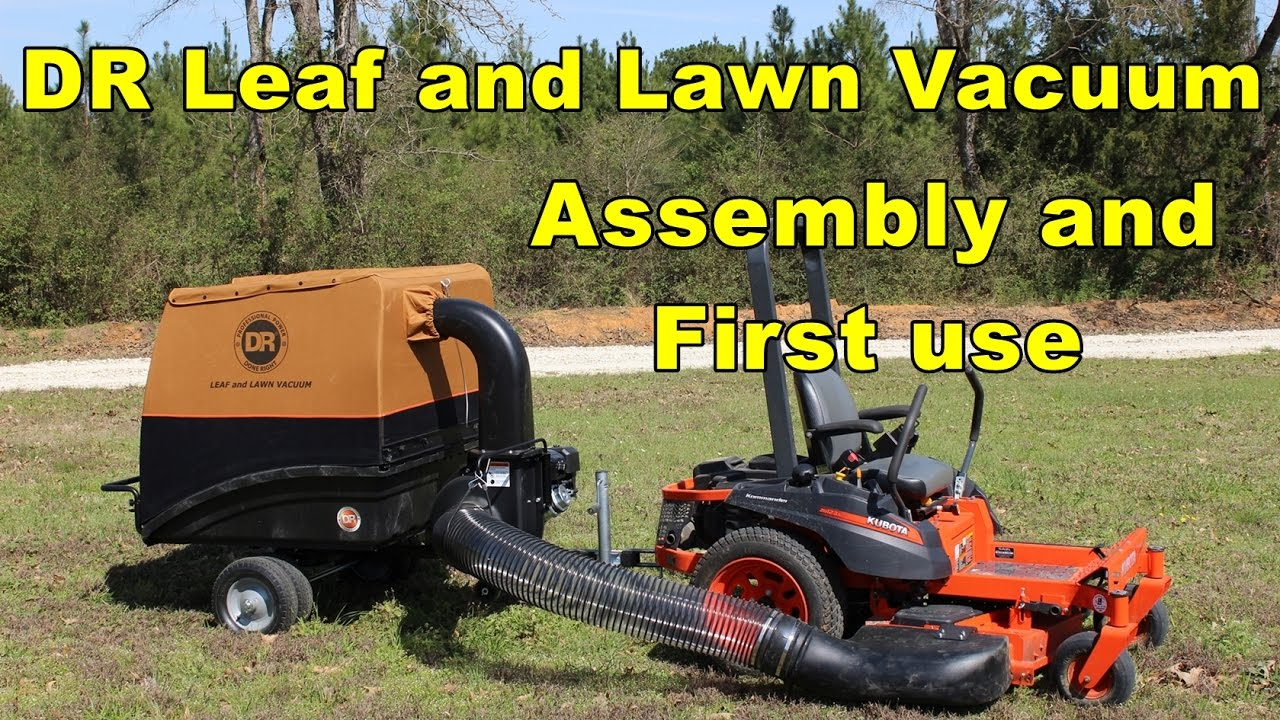 Dr Leaf And Lawn Vacuum Embly First Use