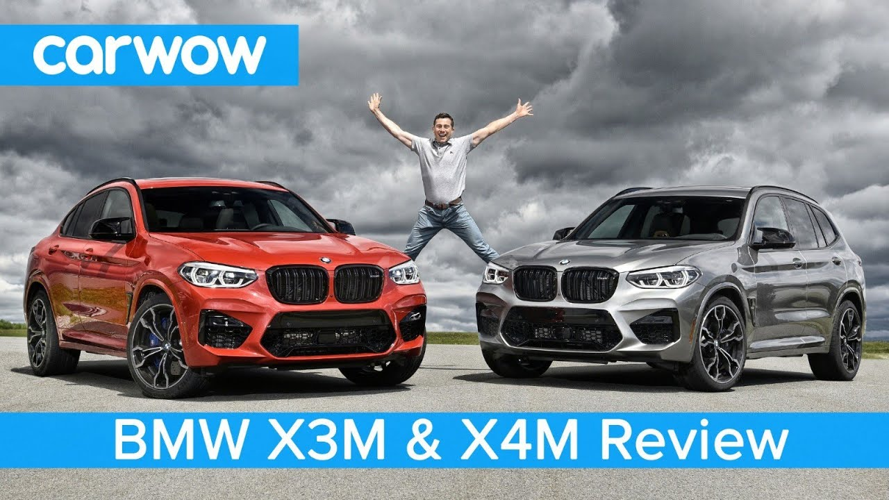 BMW X3M & X4M review on road and track - see how quick the next M3's engine is to 60mph!