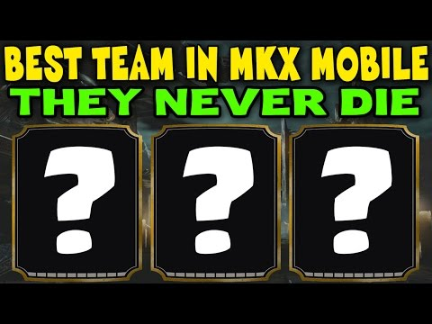 Best team in MKX Mobile! Strongest team EVER! They can't lose.