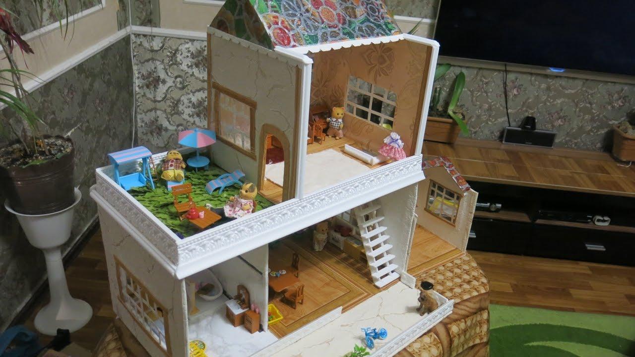 Кукольный домик своими руками из картона поэтапно фото 304
