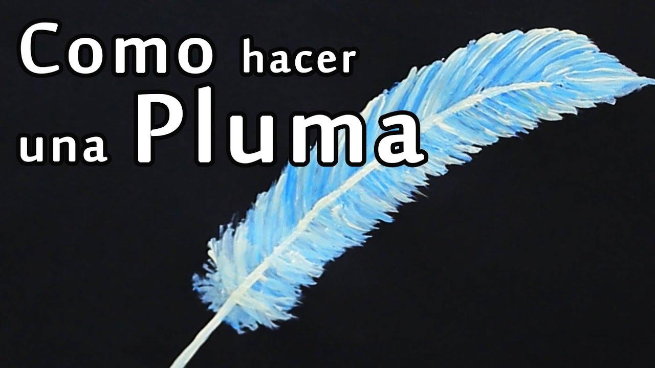 Cmo Pintar una Pluma  Arte Track  YouTube