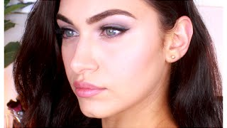 My GO-TO SUMMER GLAM // Navy Blue Smoked Liner , Soft Contour and Pouty Lips | RubyGolani