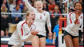 Highlights: Stanford women's volleyball punches national championship game ticket with sweep of BYU