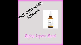 The Ordinary Alpha Lipoic Acid OVERNIGHT RESULTS!!!'