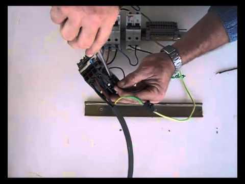 Cómo conectar un contactor (3), conexión de relé térmico contacto auxiliar.