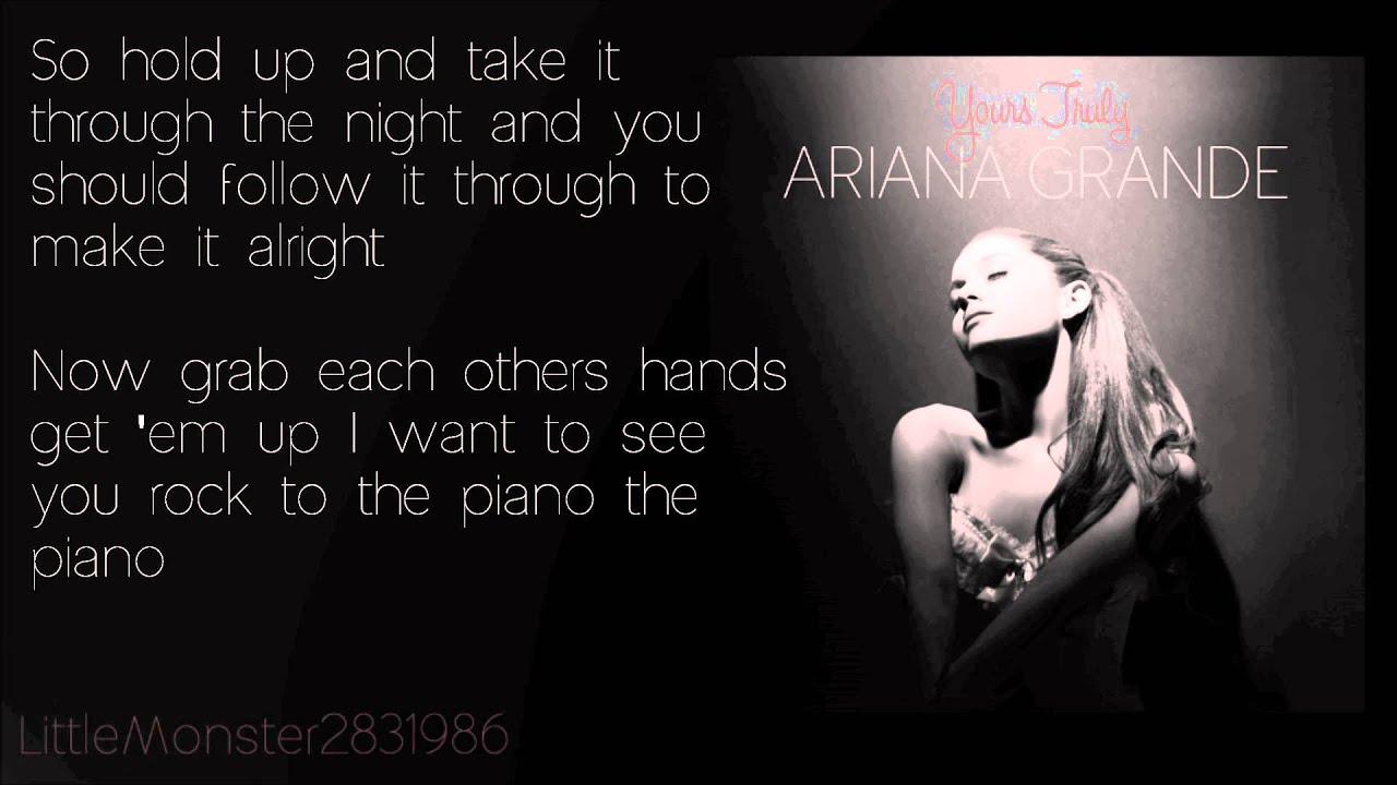 Ariana Grande - Piano (lyrics) - YouTube