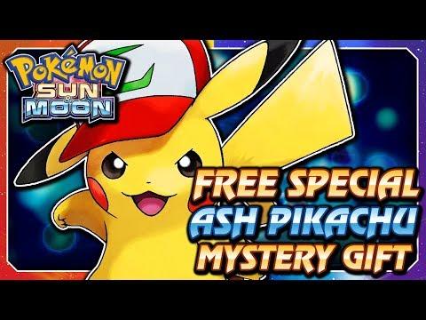 Pokémon Sun & Moon - FREE Ash Hat Pikachu Serial Code Mystery Gift Event! (ENGLISH / NORTH AMERICA)