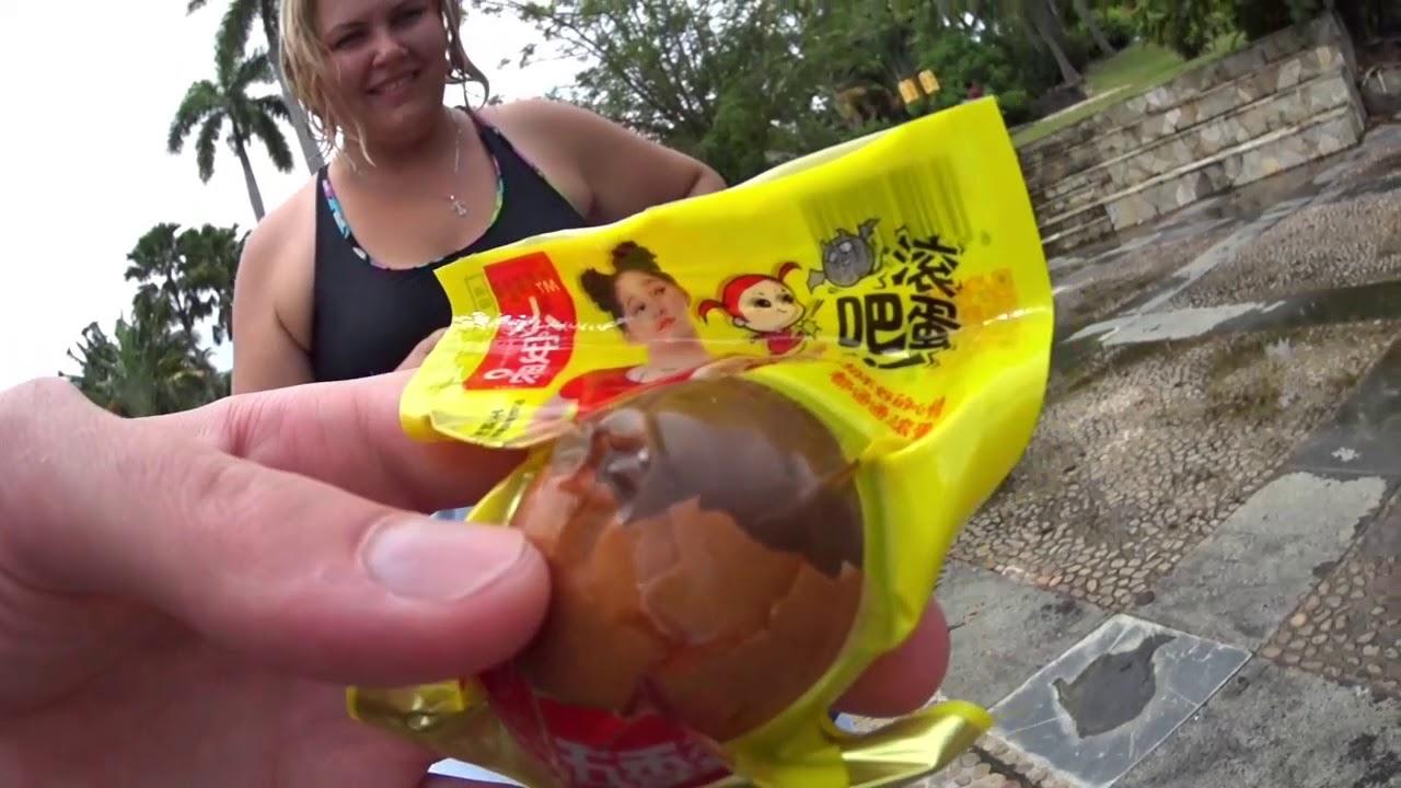 """""""Тухлое яйцо"""" - популярная еда в Китае. Пробуем на вкус."""