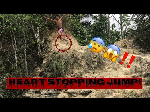 Jumping off an INCREDIBLY HIGH Cliff!! (Almost Slipped) | Vacay Vlog Pt. 2