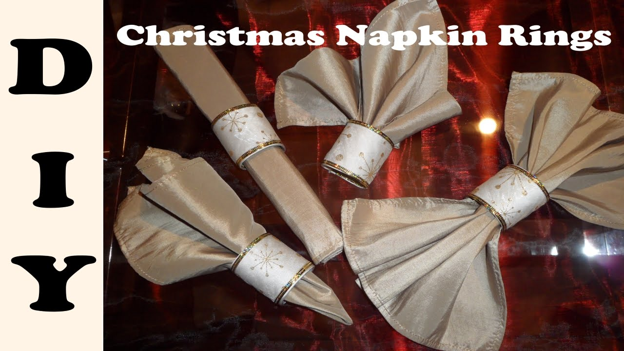 Easy To Make Christmas Napkin Rings