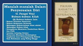 PIKIRAN, KARAKTER DAN KEPRIBADIAN: 61. Fungsi Vital Hukum-hukum Allah bag.3 - Pdt. Melvin Malau
