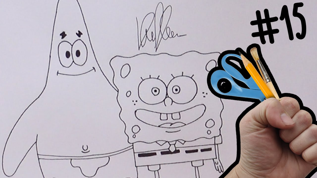 Assez Tutorial disegno PATRICK SPONGEBOB - Come disegnare Spongebob  LO54