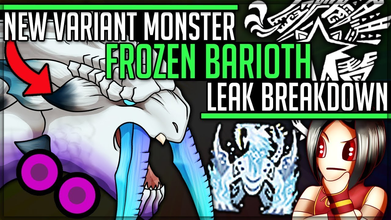 New Monster Frozen Barioth Coming To Iceborne Monster Hunter