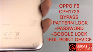 Remove Pattern Lock Oppo F5 — Totoku