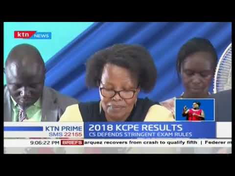 2018 KCPE Results: Amina Mohammed says this year\'s exams did not leak