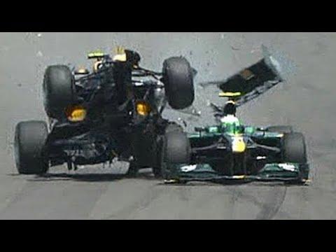 Mark Webber 2010 European Grand Prix crash