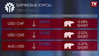 InstaForex tv news: Биржевые курсы 15:00 (11.09.2018)