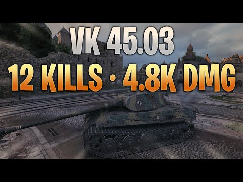 VK 45.03 - Incredible (12 Kills - 4.8k Dmg)