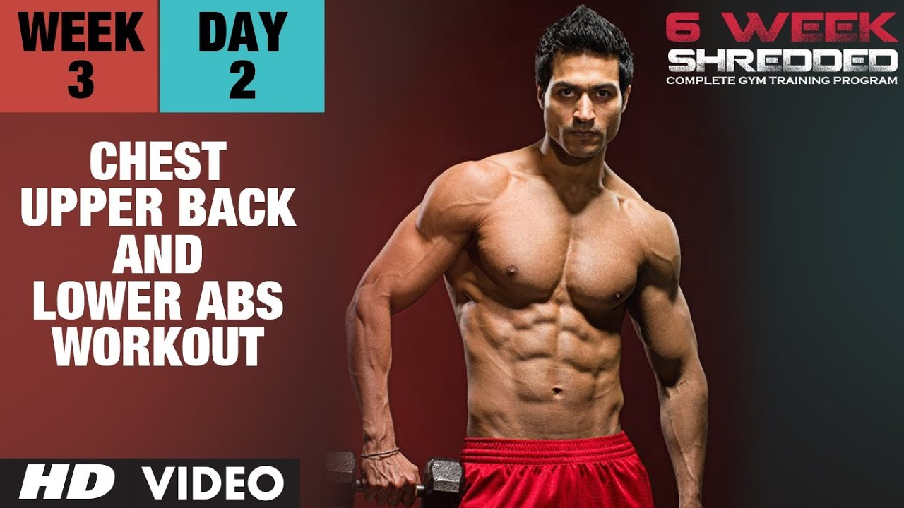 Workout Calendar By Guru Mann : Week day chest upper back and lower abs workout
