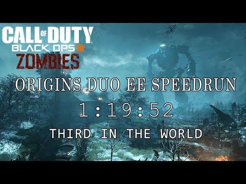 "Origins Duo Easter Egg Speedrun ""1:19:52"" Third in the World (Black Ops III Zombies)"