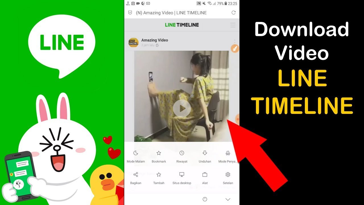 Simpan Video dari LINE TIMELINE di Android | 100% Work