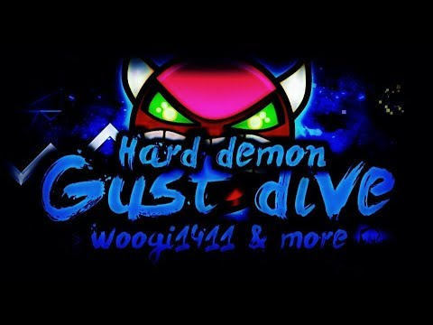 [Geometry Dash]Gust Dive by WOOGI1411&more 100% complete(all coins)[Hard Demon]