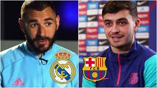¡NO TE LO PIERDAS! Benzema y Pedri calientan el Clásico Real Madrid vs Barcelona. | La Liga