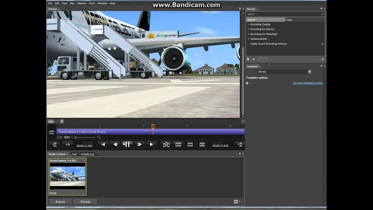 how to cut video by using microsoft expression encoder 4