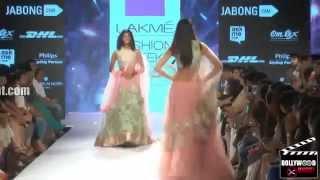 Ileana D'Cruz Showstopper   Designer Anushree Reddy   Lakmé Fashion Week 2015