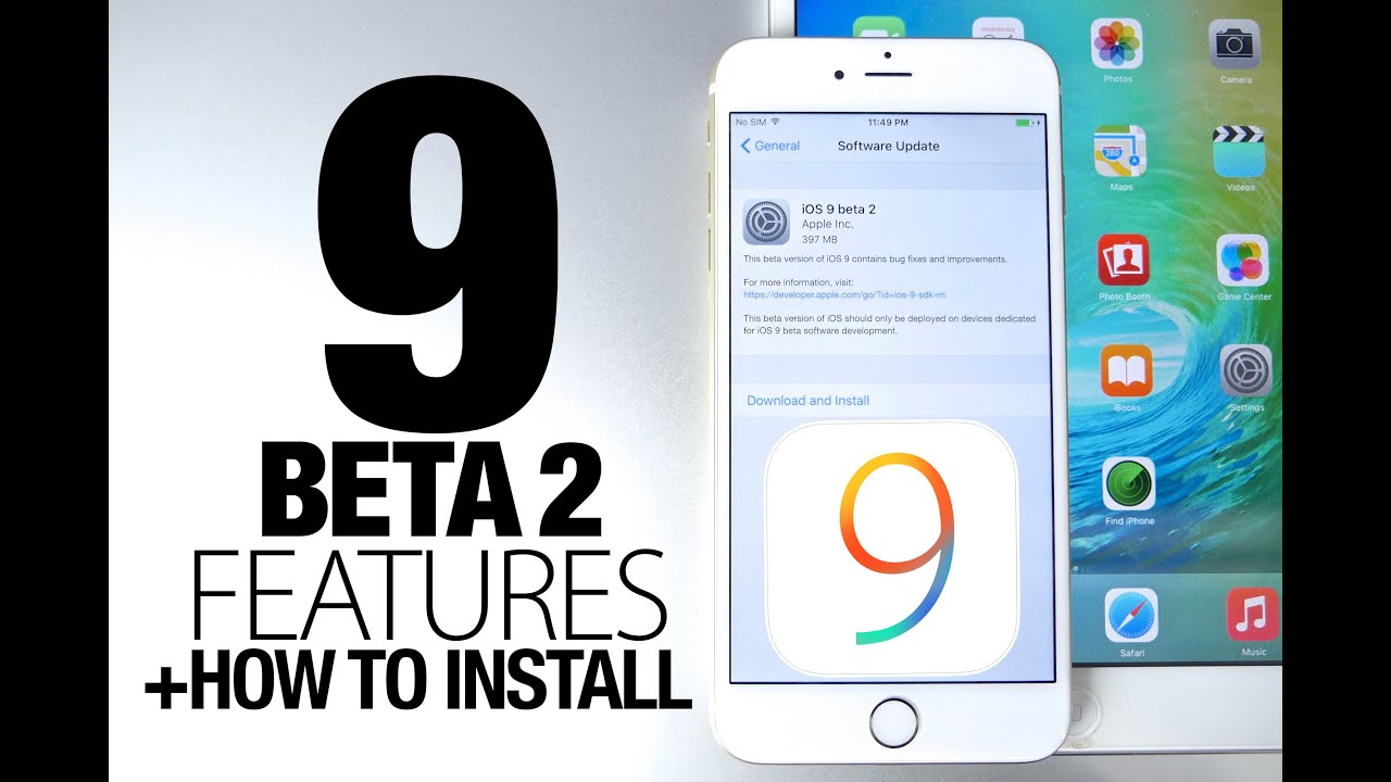 Updating ios 9 beta