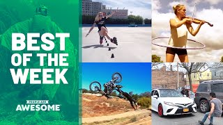 Slalom Skating & Barbell Handstands | Best of the Week