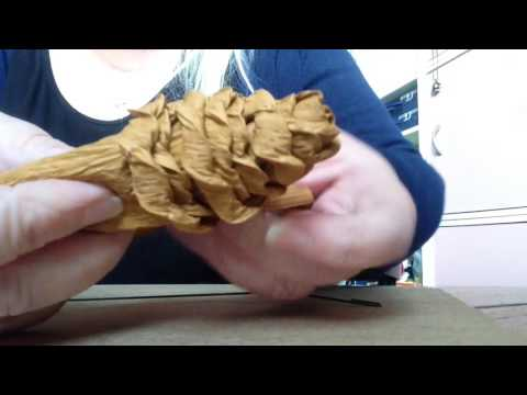 How to make a paper pine cone