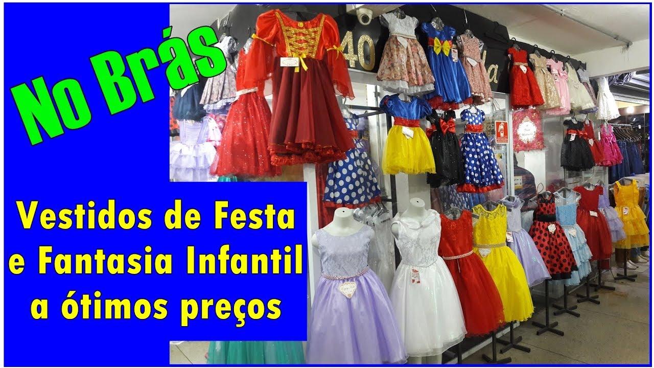 bac0459289 Moda Festa e Fantasia Infantil no Brás - YouTube
