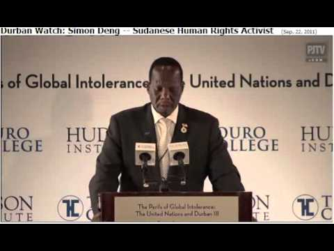 Apartheid in Israel? Simon Deng, was a Sudanese Slave Tells Truth
