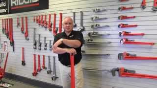 Ridgid pipe wrench product line - Made in USA