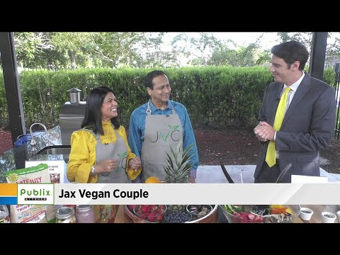 Getting vegan advice from Jax Vegan Couple