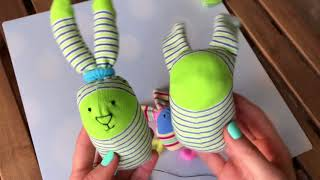 Игрушка из носка. Рукоделие для девочек. Как сделать игрушку из обычного носка.