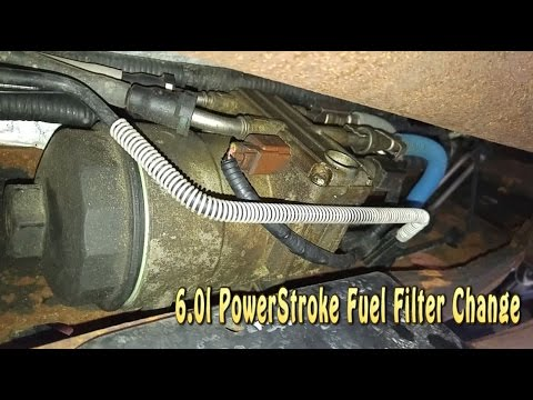 How to Change a Ford F-250 60l Powerstroke Diesel Fuel Filter - YouTube