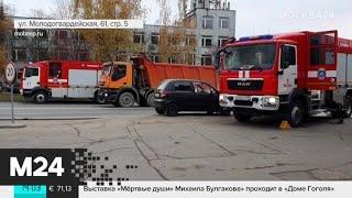 Смотреть видео Пожар на складе в Кунцеве потушили - Москва 24 онлайн