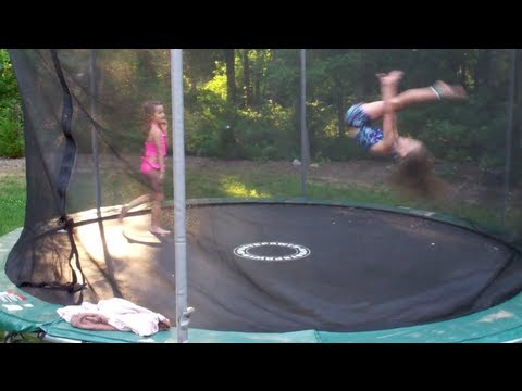 7 and 8 year old gymnastics tricks on trampoline youtube. Black Bedroom Furniture Sets. Home Design Ideas