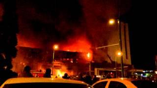 Brasov,incendiu la My Place Mall,17 dec.2012.