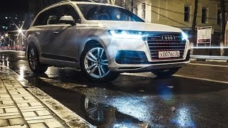Audi Q7 TDI 2015 review. Ауди Ку 7 2015 дизель тест драйв