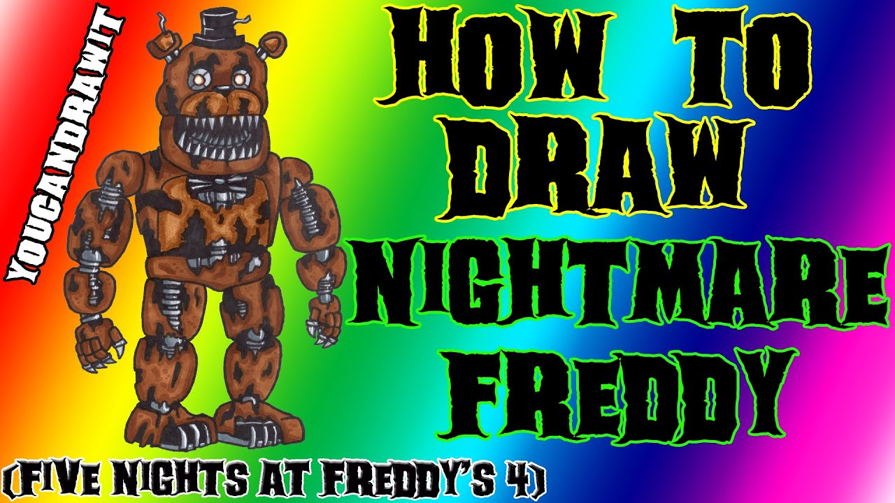 How To Draw Nightmare Freddy From Five Nights At Freddy S